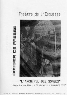Archipel, Dossier Presse, Théâtre del'Esquisse, Genève