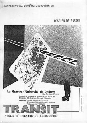 Transit, Dossier Presse, Théâtre del'Esquisse, Genève
