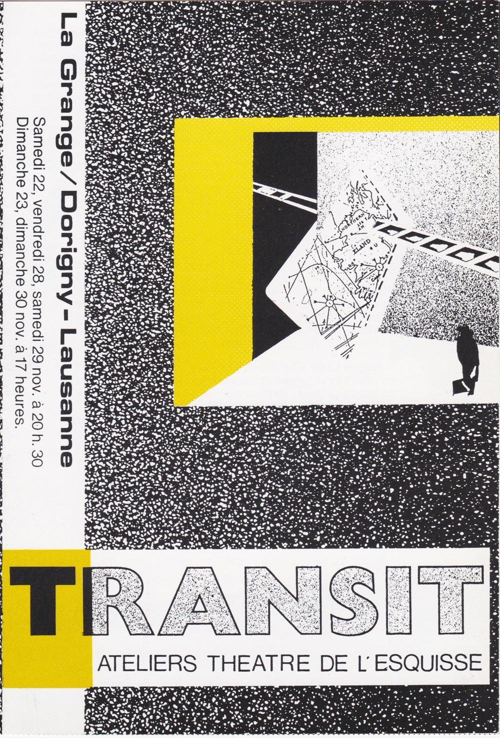 Transit, Flyer, Théâtre de l'Esquisse, Genève