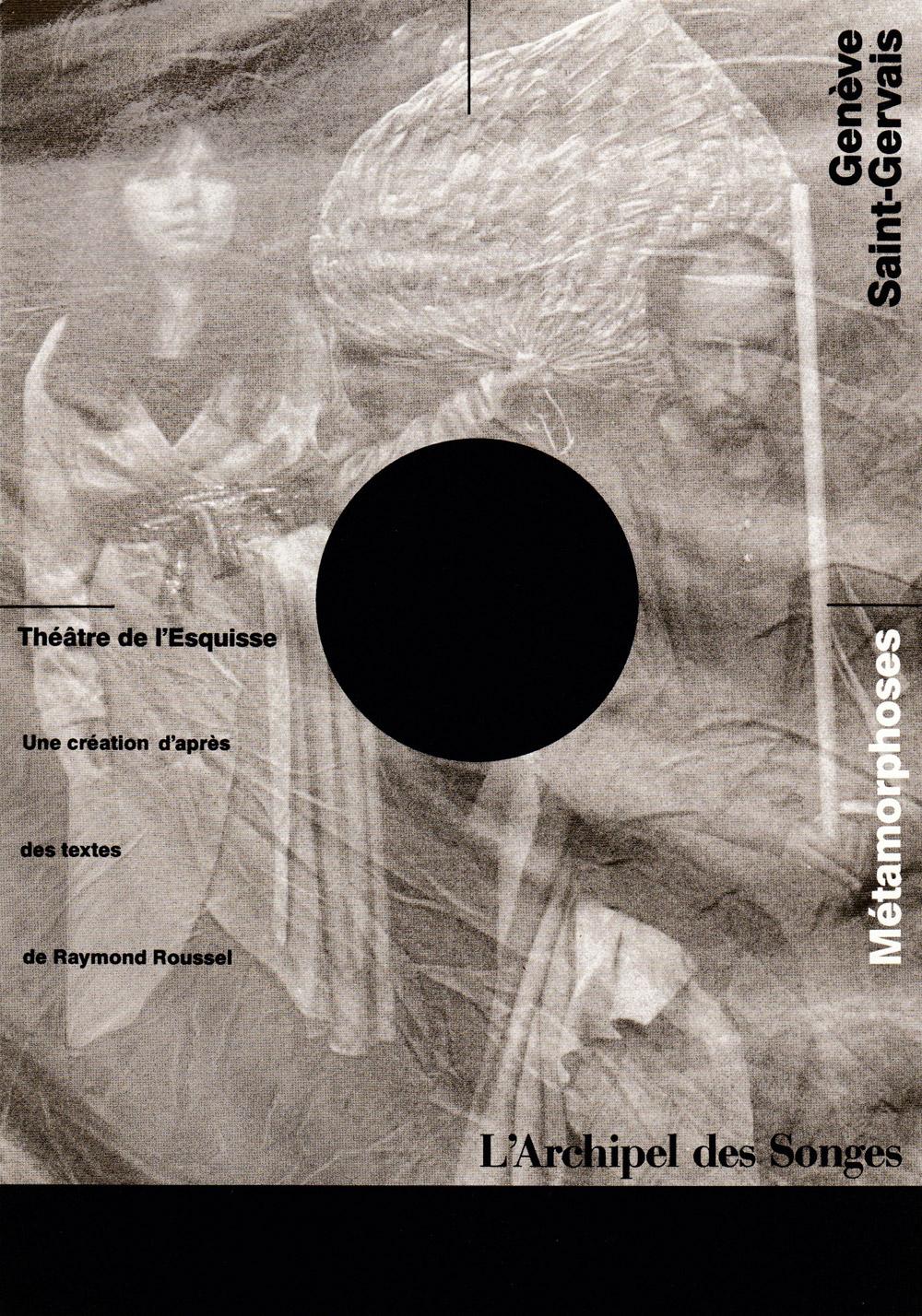 Archipel, Flyer, Théâtre del'Esquisse, Genève
