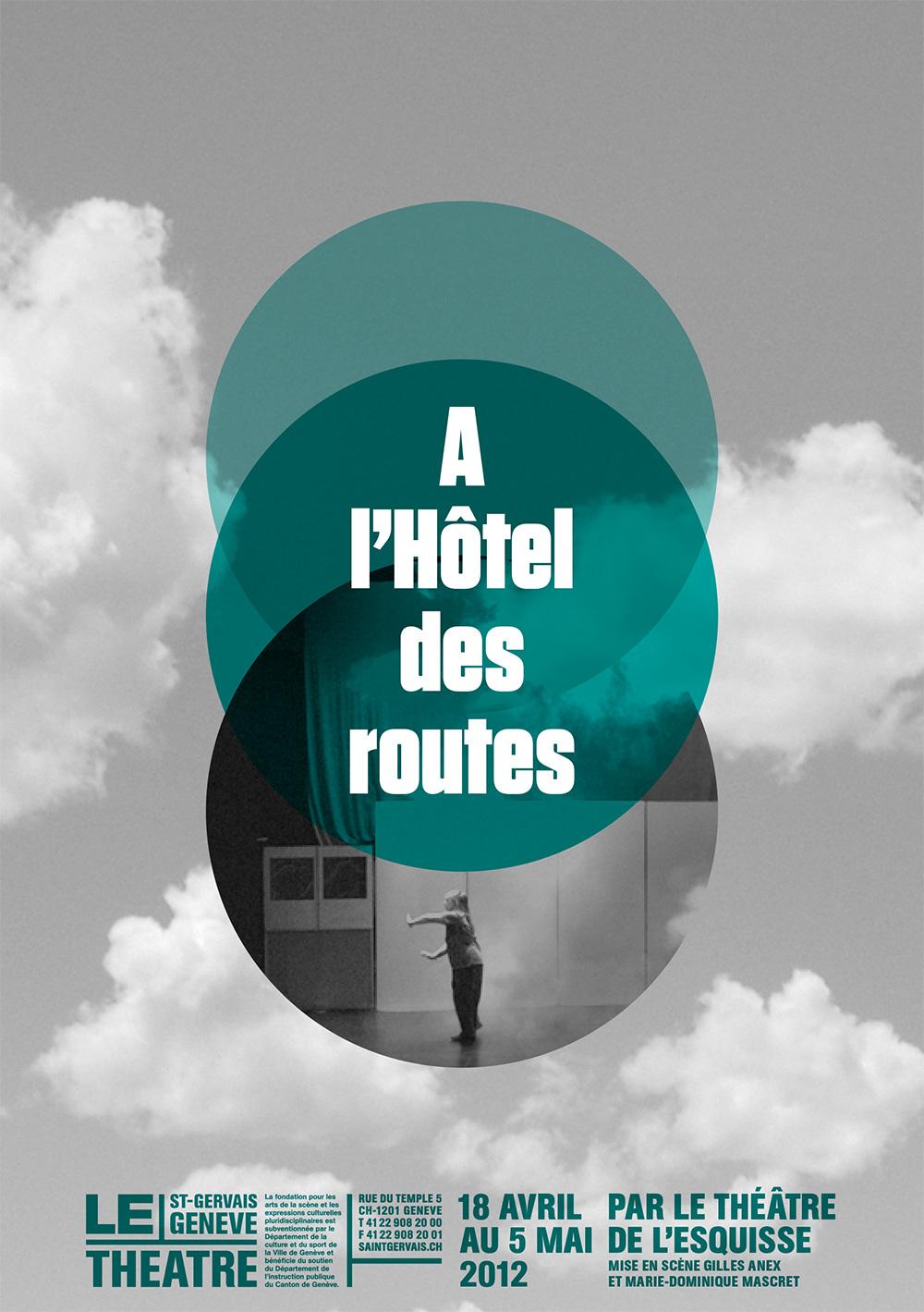 Flyer, A l'Hôtel des routes, Théâtre de l'Esquisse, Genève