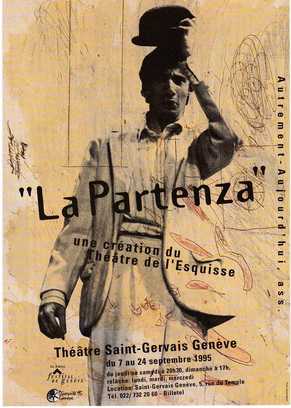 Flyer, Partenza, Théâtre de l'Esquisse, Genève