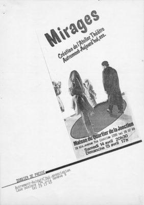 Mirages, Dossier Presse, Théâtre de l'Esquisse, Genève