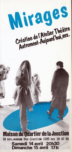 Mirages, Flyer, Théâtre del'Esquisse, Genève