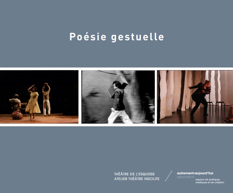 Cover Poésie Gestuelle édition Théâtre de l'Esquisse Genève