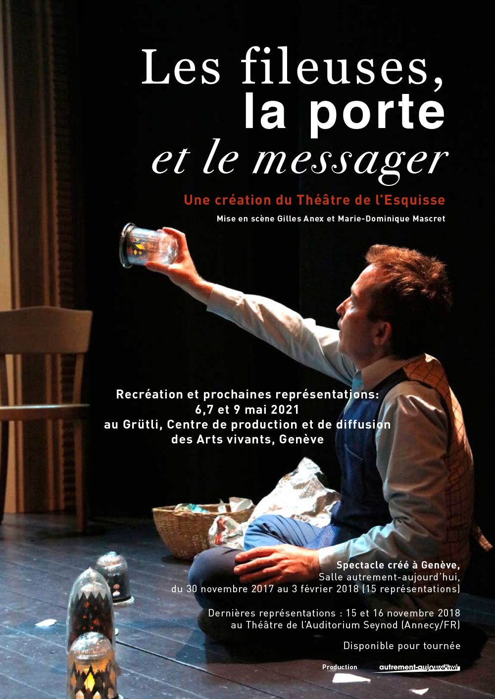 DP_Les fileuses, la porte et le messager, Théâtre de l'Esquisse, Genève, Dossier Presse